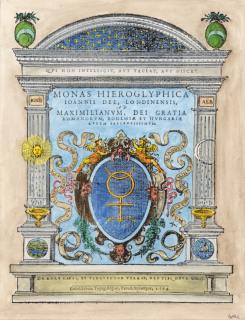 Engraved Title From John Dee Monas Hieroglyphica Antwerp 1564, Alchemical And Hermetic Emblems 2